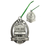 *90th Anniversary Limited Edition Collectible Pewter Holiday Ornament
