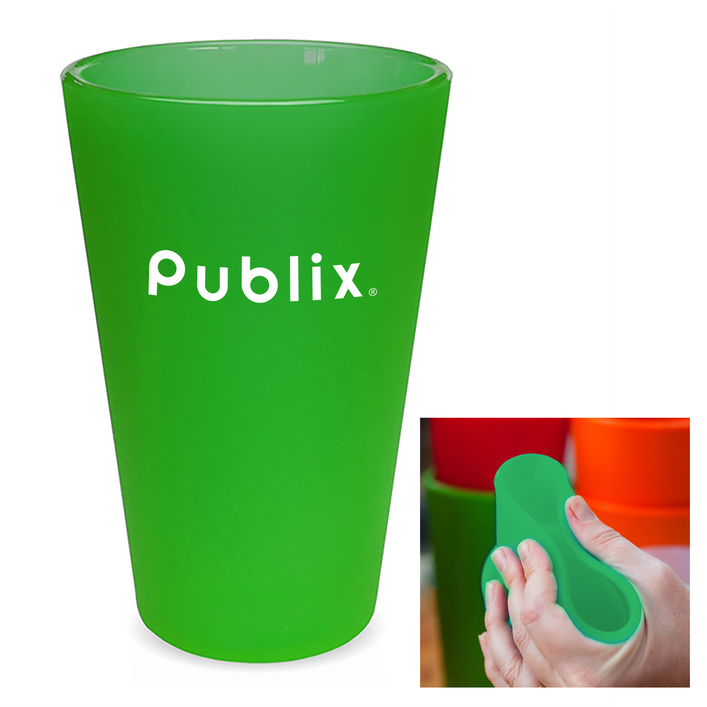 Silipint® Silicone, Flexible, 16oz Original Pint Glass - Green