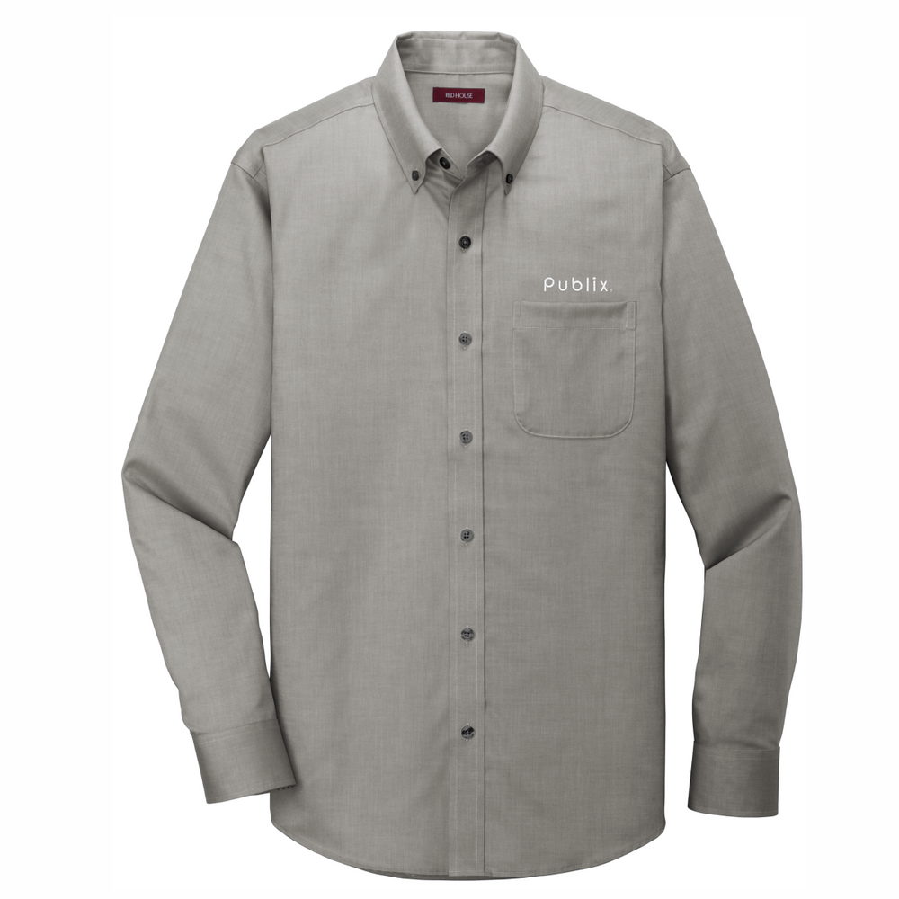 Red House® Pinpoint Oxford Non-Iron Shirt CHARCOAL (BARM approved - ROC Speaker Shirt)