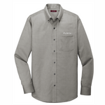 Red House®Mens Pinpoint Oxford Non-Iron Shirt CHARCOAL