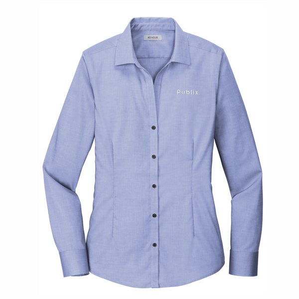 Red House® Ladies Pinpoint Oxford Non-Iron Shirt VINTAGE NAVY (BARM approved - ROC Speaker Shirt)