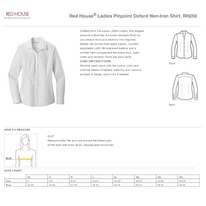 *Red House® Ladies Pinpoint Oxford Non-Iron Shirt