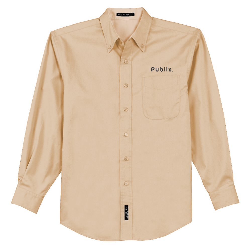 NEW Port Authority Men's Easy Care Long Sleeve Shirt - STONE