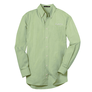 New Port Authority® Plaid Pattern Men's Easy Care Shirt- Plaid Green