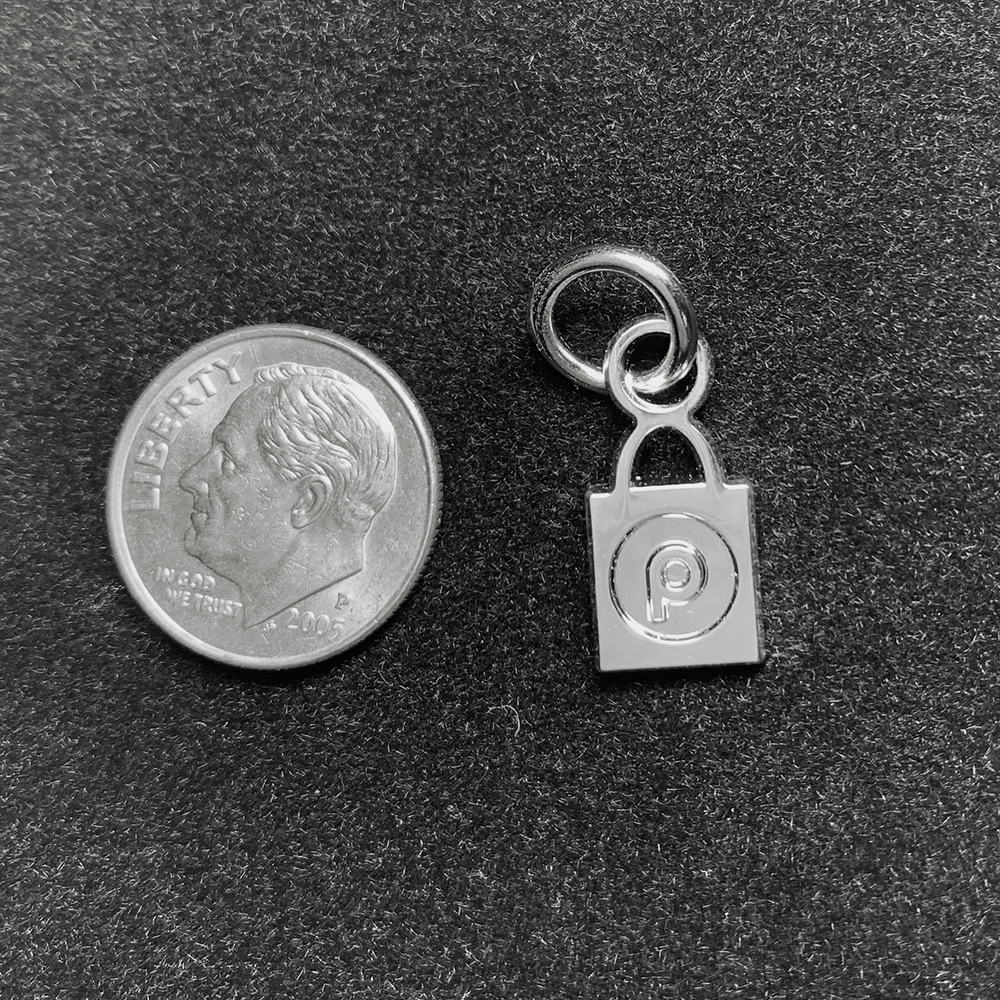 Silver Plated Publix BAG Charm
