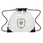 2018 United Way Clear Drawstring Backpack