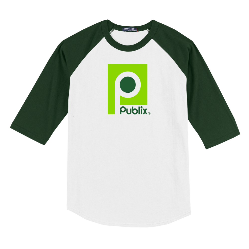 Clearance Vintage Publix Baseball Jersey - Dark Green/White - DISCONTINUED