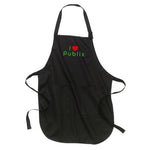 Black I Heart Publix Adjustable Apron with Pockets