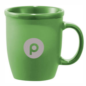 Laser Etched Ceramic Mug in Green - 12oz