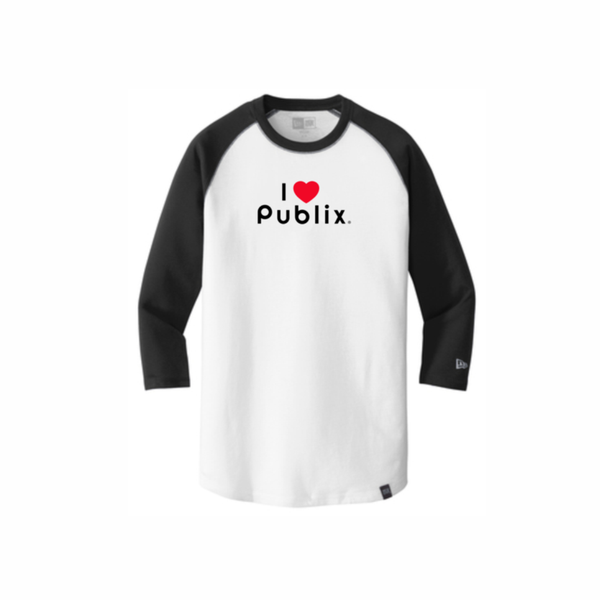 New Era® Unisex Heritage Blend 3/4-Sleeve Baseball Raglan Tee