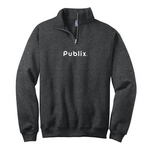 Cadet Collar Black Heather Fleece Sweatshirt