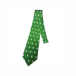 Green Publix Brand Mark Silk Tie