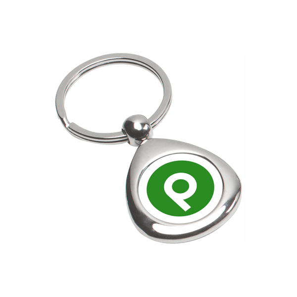 Chrome Metal Keyholder with Domed Brandmark Logo
