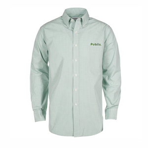 522a28390ae719 Green Gingham Check Van Heusen Dress Shirt - BARM APPROVED – Publix Company  Store by Partner Marketing Group.