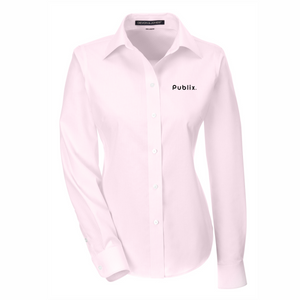 Devon & Jones Ladies' Crown Woven Collection™ Banker Stripe - PINK