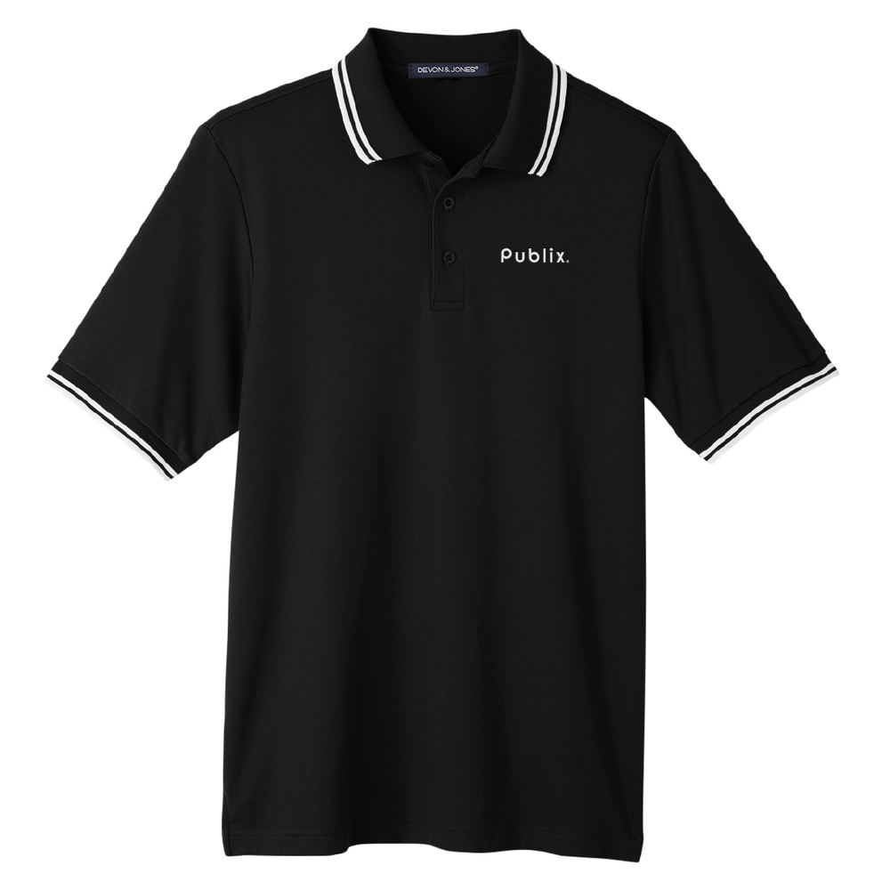 Devon & Jones Men's CrownLux Performance™ Plaited Tipped Polo