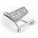 Grocery Cart Lapel Pin