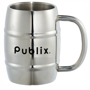 Clearance Growl Stainless Barrel Mug - 14oz