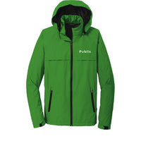 Port Authority® Torrent Waterproof Jacket -Green with Publix Logo Type