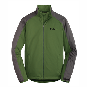 Port Authority® Active Colorblock Green Soft Shell Jacket