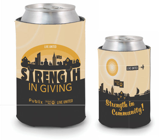 United Way Pocket Koozie - Bundle pack of 10
