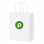 Kraft White Handle Publix Gift Bag