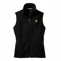 Ladies Black Fleece Vest by Port Authority