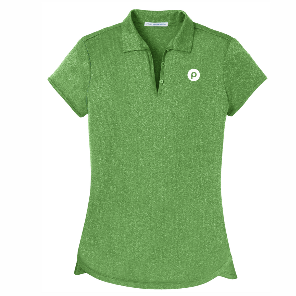 Port Authority® Ladies Trace Heather Polo - Vine Green