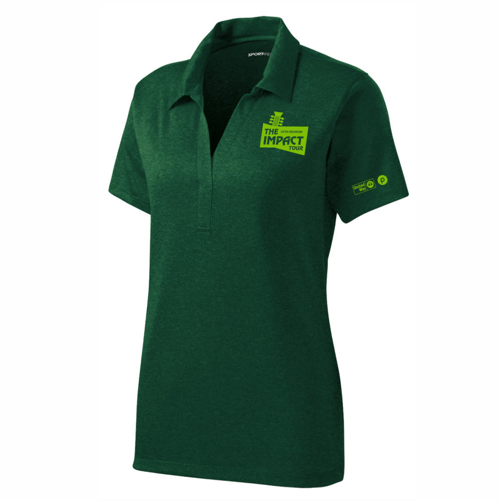 UW2019 - LADIES Heather Green Polo