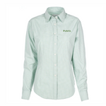 Ladies Green Gingham Check Van Heusen Dress Shirt