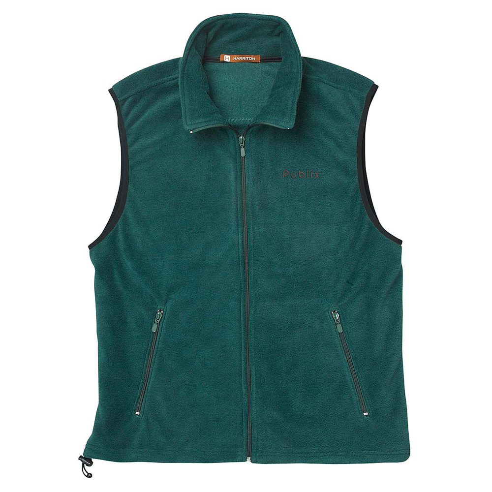 NEW!  Harriton Adult Fleece Vest - Hunter Green