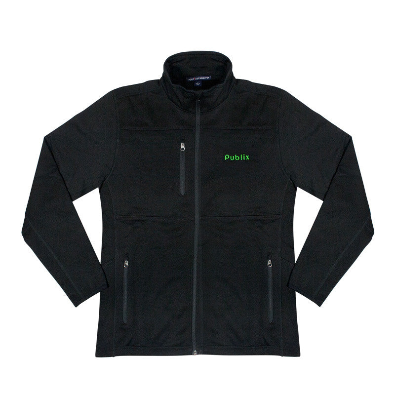 Men's Pique Fleece Jacket in Black