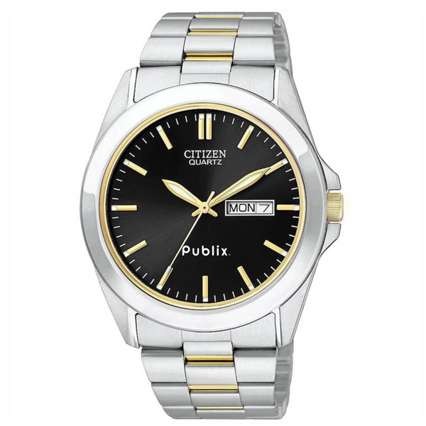 Citizen Men's Two-tone Stainless Watch w/Round Black Dial - this item will ship the week of November 26th, 2018.