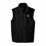 Men's Black Fleece Vest by Port Authority