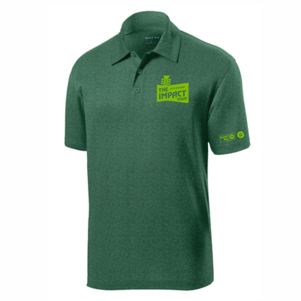 Clearance  - MENS Heather Green Polo