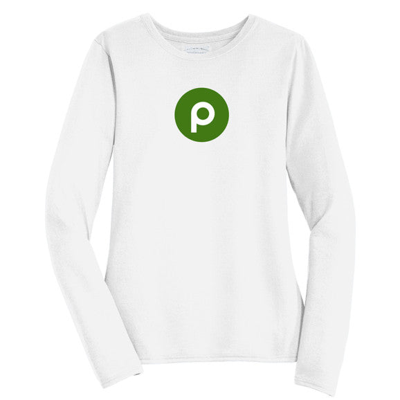 Publix Brandmark Long Sleeve T-Shirt - Ladies - White
