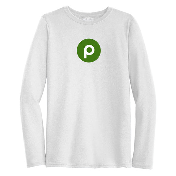 Publix Brand Mark Long Sleeve T-Shirt - Mens - White
