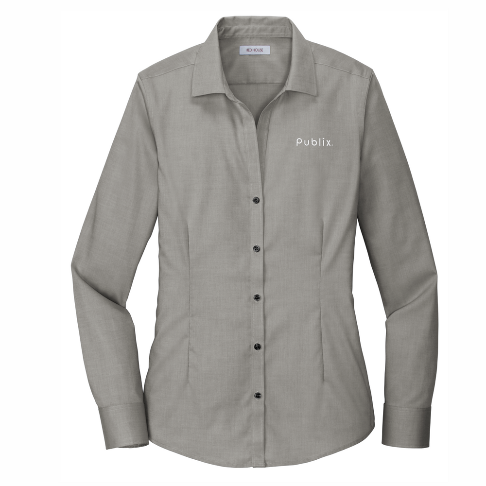 Red House® Ladies Pinpoint Oxford Non-Iron Shirt CHARCOAL (BARM approved - ROC Speaker Shirt)