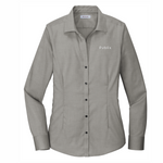 Red House® Ladies Pinpoint Oxford Non-Iron Shirt CHARCOAL