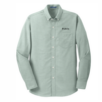 Men's Port Authority SuperPro Green Oxford Shirt - BARM approved