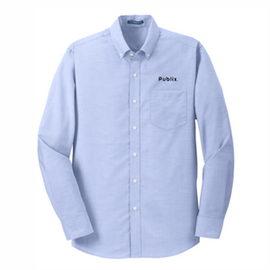 Men's Port Authority SuperPro Oxford Blue Shirt - BARM approved