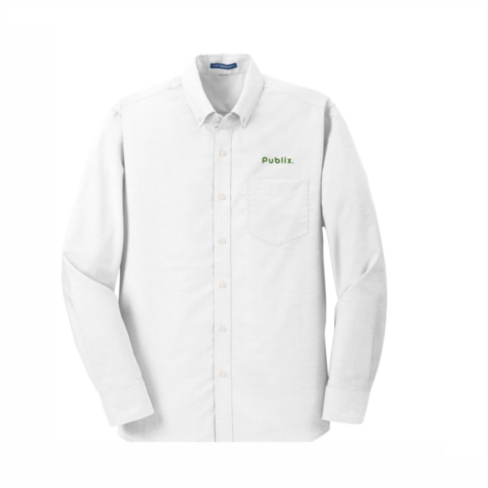 Men's Port Authority SuperPro White Oxford Shirt