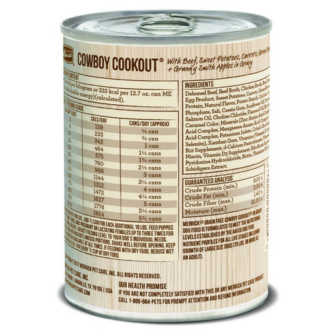 Merrick Grain Free Cowboy Cookout Canned Dog Food