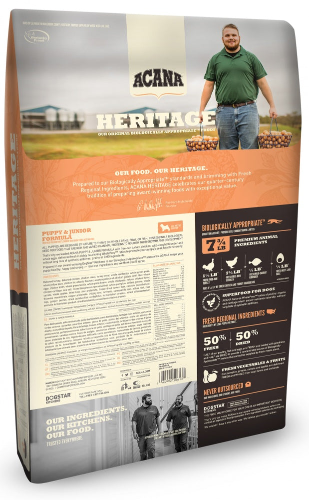 ACANA Heritage Puppy & Junior Formula Grain Free Dry Dog Food