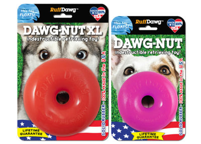 RuffDawg Dawg-Nut Indestructible Retrieving Dog Toy