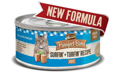 Merrick Purrfect Bistro Surf & Turf Pate Grain Free Canned Cat Food