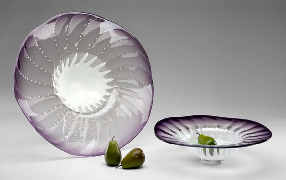 Cyan Design Large Purple Art Glass Bowl