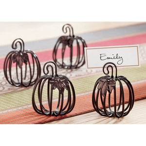 TAG Wire Pumpkin Cardholder (Set of 4)