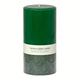 Northern Lights Candles - 3x6 Pillar-Fraser Fir