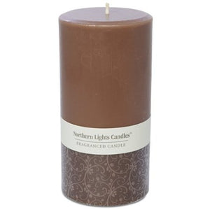 Northern Lights Candles - 3x6 Pillar - Mocha Latte